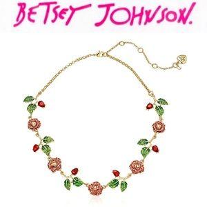 Betsey Johnson Rose Necklace